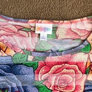 LuLaRoe Tops - LuLaRoe Irma Disney Roses tunic top size large.